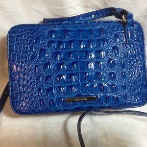 Brahmin Demi Cobalt Melbourne Leather Crossbody